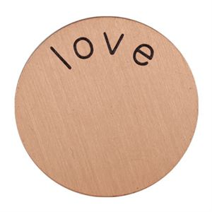 Picture of 'Love' Mini Rose Gold Coin